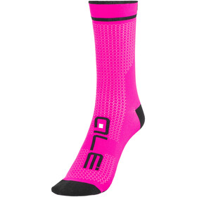 Alé Cycling Summer Power High Socks nero-fluo pink/black